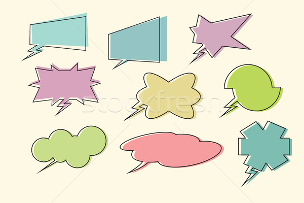 set comic book speech bubbles Stock photo © studiostoks
