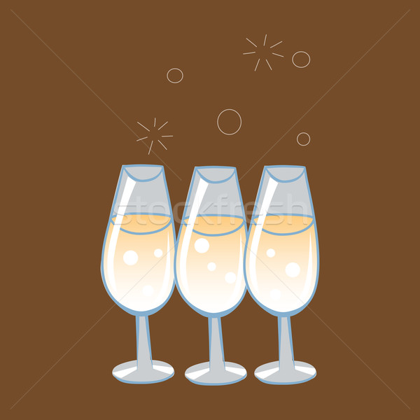 Celebratory glasses of champagne Stock photo © studiostoks