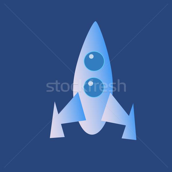 Space rocket icon Stock photo © studiostoks