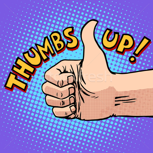 Thumbs up hitchhiking symbol and approval Stock photo © studiostoks