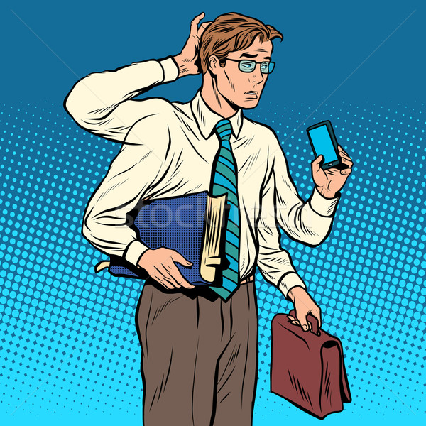 Business concept a lot of cases the multi-armed businessman Stock photo © studiostoks