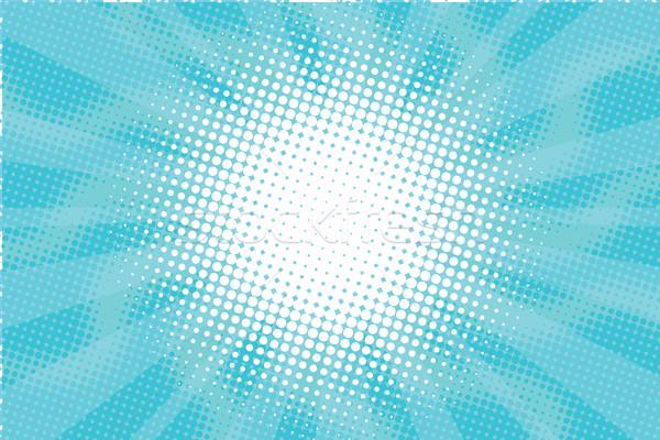 Kék napos pára pop art retro vektor Stock fotó © studiostoks
