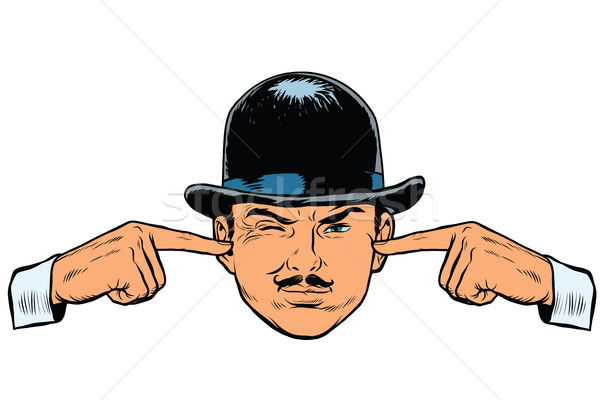 Retro europese spion detective pop art vector Stockfoto © studiostoks