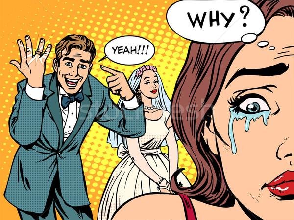 羨望 男 女性 結婚式 愛 ポップアート ストックフォト © studiostoks