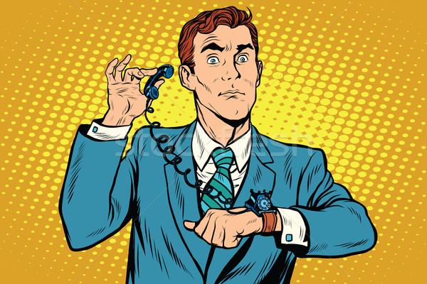 Gadget wrist watch phone Stock photo © studiostoks