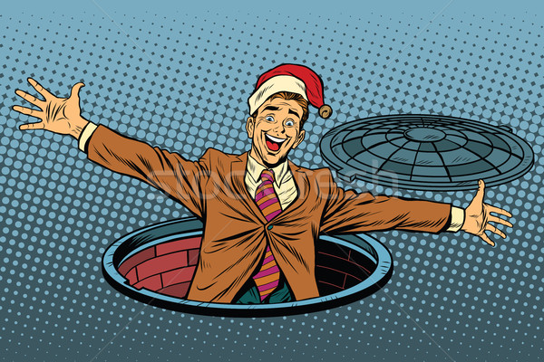 Hello businessman Christmas surprise Stock photo © studiostoks