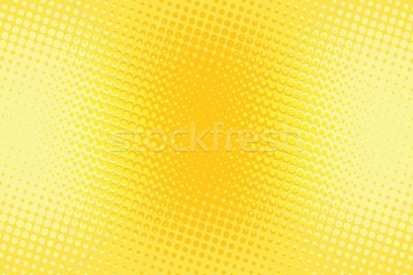 Orange yellow halftone pop art retro background Stock photo © studiostoks