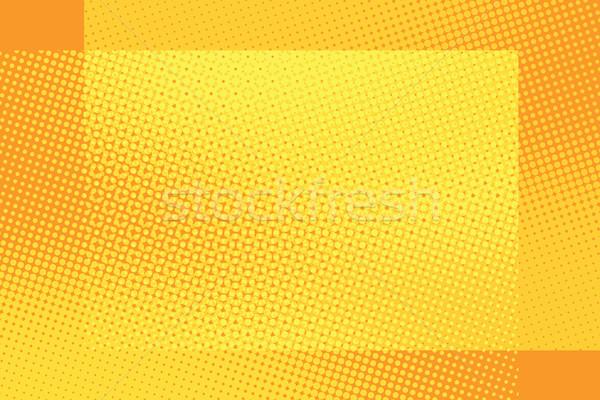 Arancione frame pop art retro estate Foto d'archivio © studiostoks