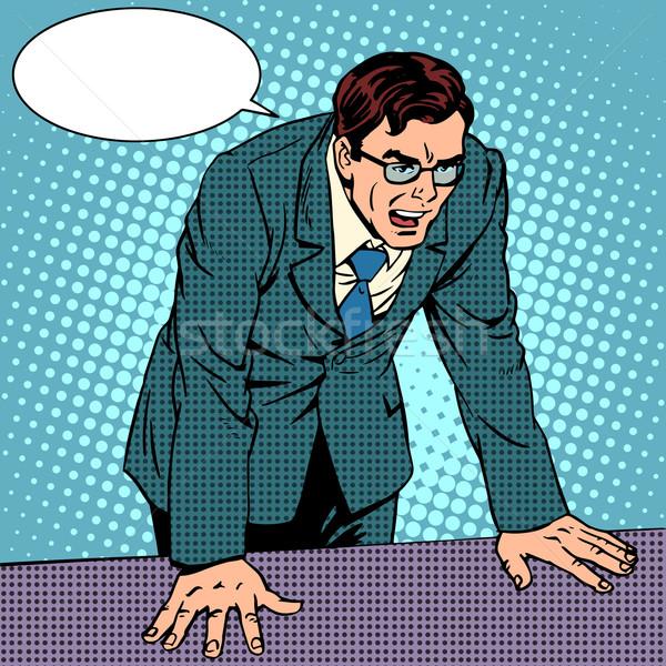 Empresário raiva negócio negativo emoções Foto stock © studiostoks