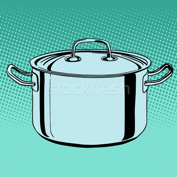 metal saucepan cookware Stock photo © studiostoks