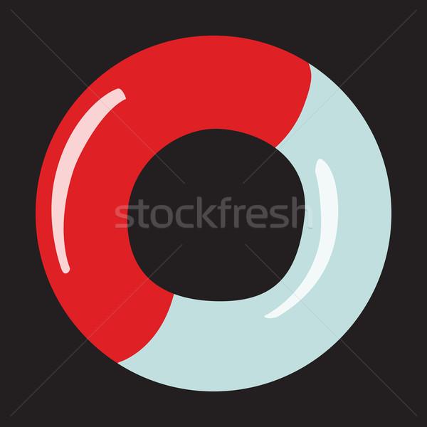 Ikon életvonal semleges mentés fehér piros Stock fotó © studiostoks