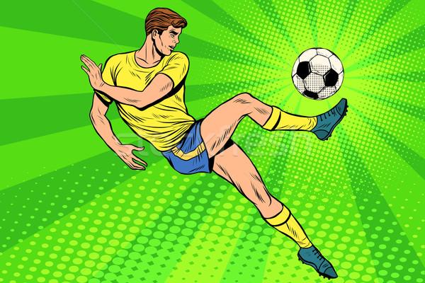 Fútbol balón de fútbol verano deportes juegos campeonato Foto stock © studiostoks