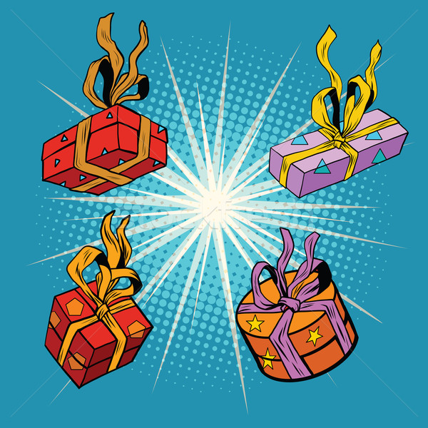 Set boxes with gifts Stock photo © studiostoks