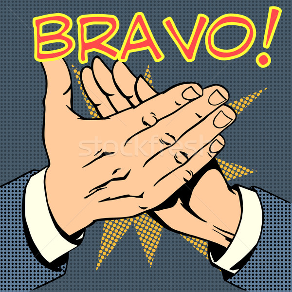 hands palm applause success text Bravo Stock photo © studiostoks