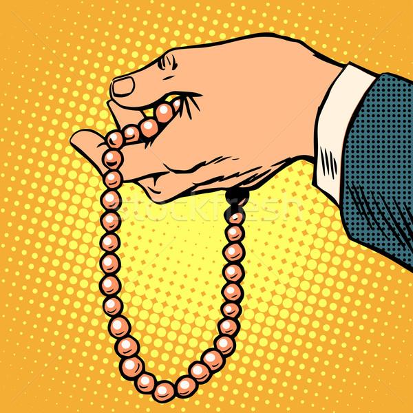 Perline decorazione regalo preghiera religione pop art Foto d'archivio © studiostoks