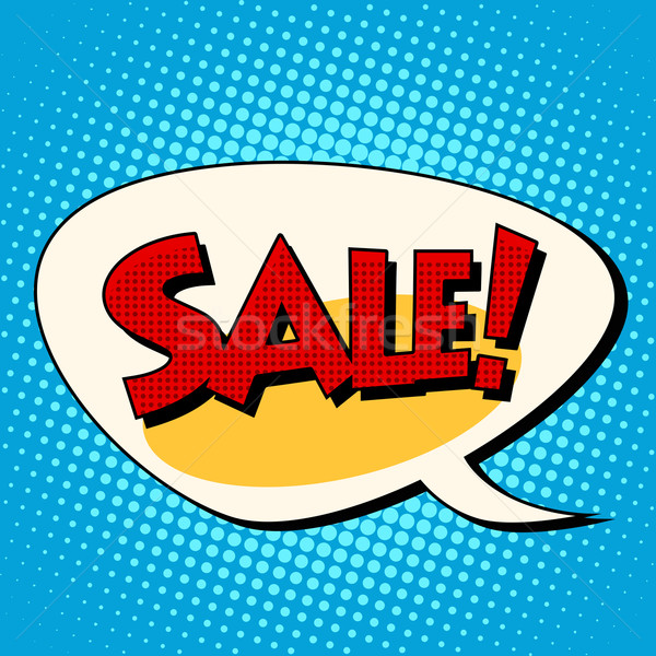 Sale comic book bubble Stock photo © studiostoks