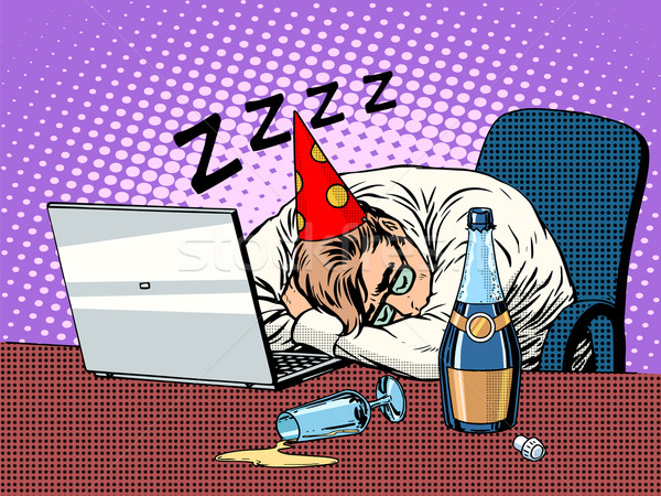 Hard birthday party Stock photo © studiostoks