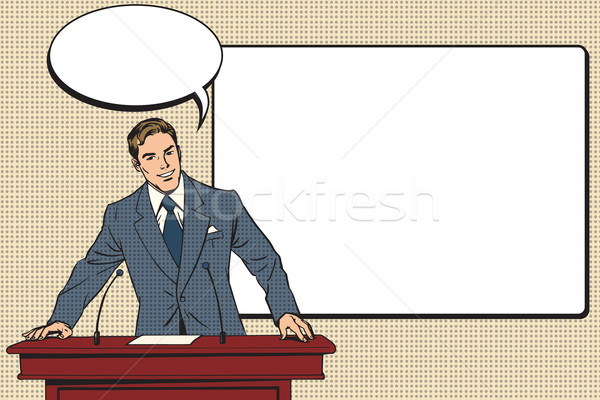 business presentation, a scientific lecture Stock photo © studiostoks