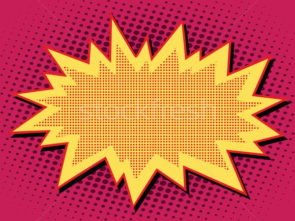 Komiks Chmura wybuchu pop art ilustracja retro Zdjęcia stock © studiostoks