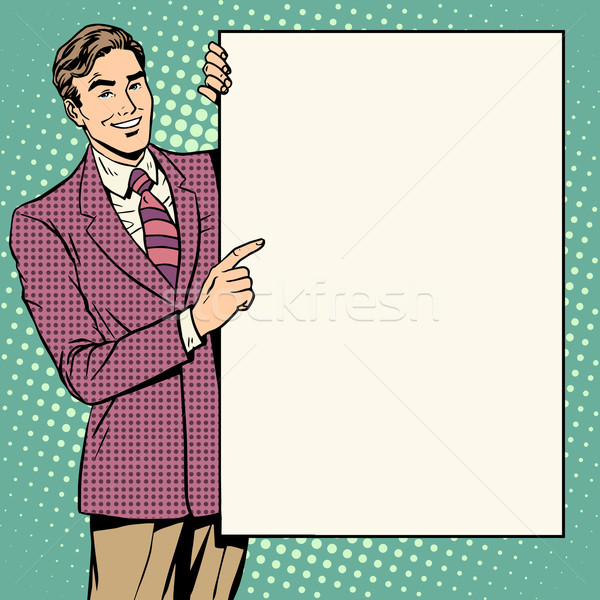 Businessman poster style your brand here Stock photo © studiostoks