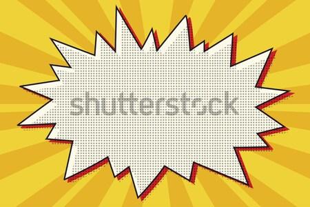 Rosso fumetto esplosione arancione sole pop art Foto d'archivio © studiostoks