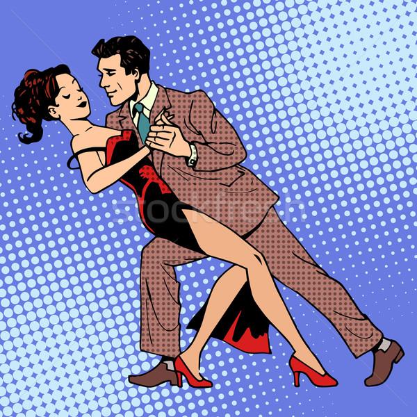 Homem mulher dança valsa tango arte Foto stock © studiostoks