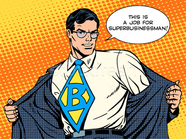 Job super businessman hero vector illustration valeriy for Porte qui s ouvre dessin