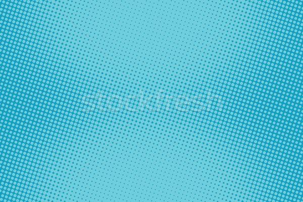 retro comic blue background raster gradient halftone Stock photo © studiostoks