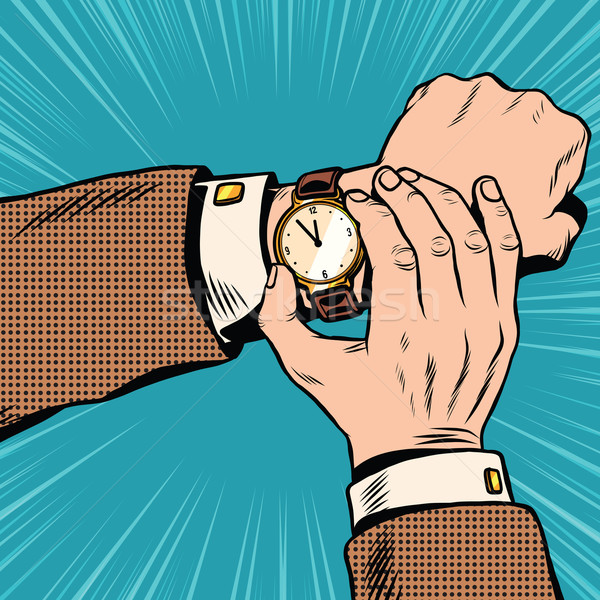Wrist watch retro pop art Stock photo © studiostoks