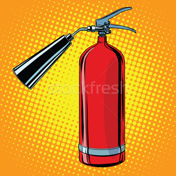 realistic red fire extinguisher pop art Stock photo © studiostoks