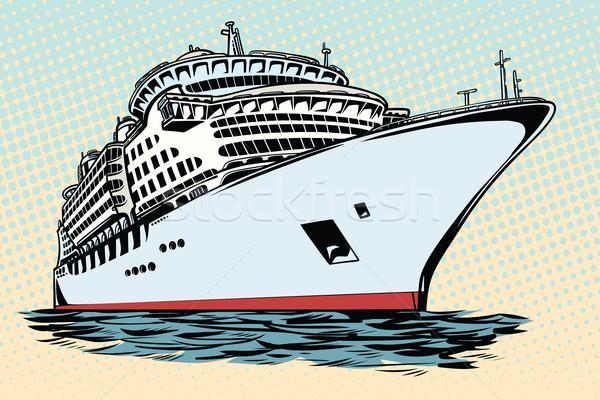 Bateau de croisière vacances mer Voyage eau transport Photo stock © studiostoks