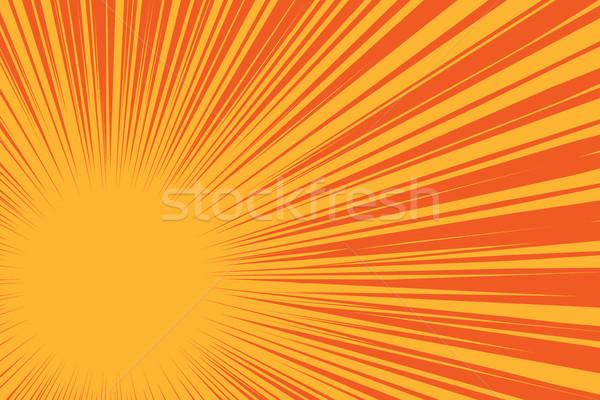 Stok fotoğraf: Sarı · güneş · kırmızı · pop · art · komik · Retro