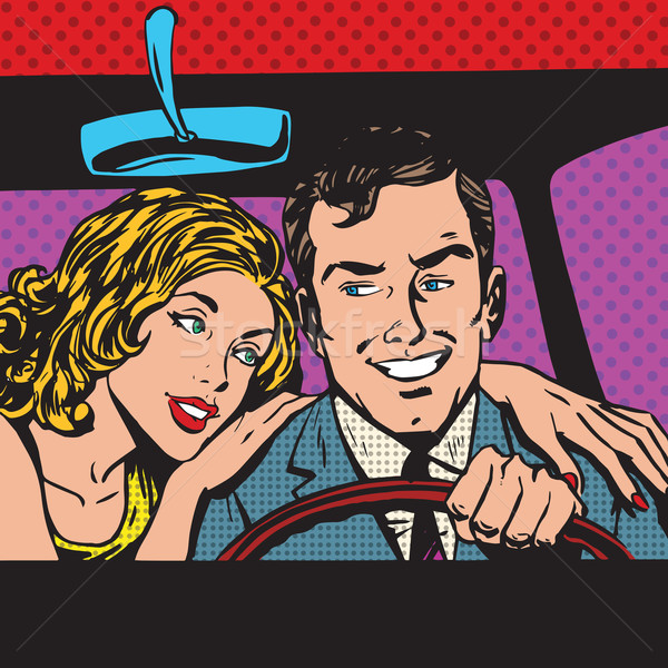 pop art comics retro style Halftone Stock photo © studiostoks