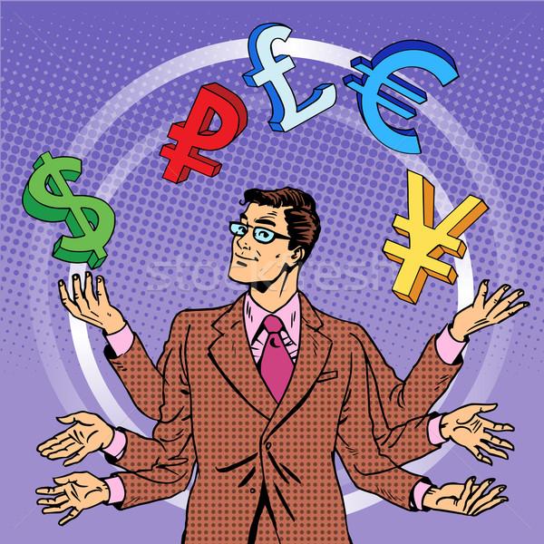 businessman juggling money business concept Stock photo © studiostoks