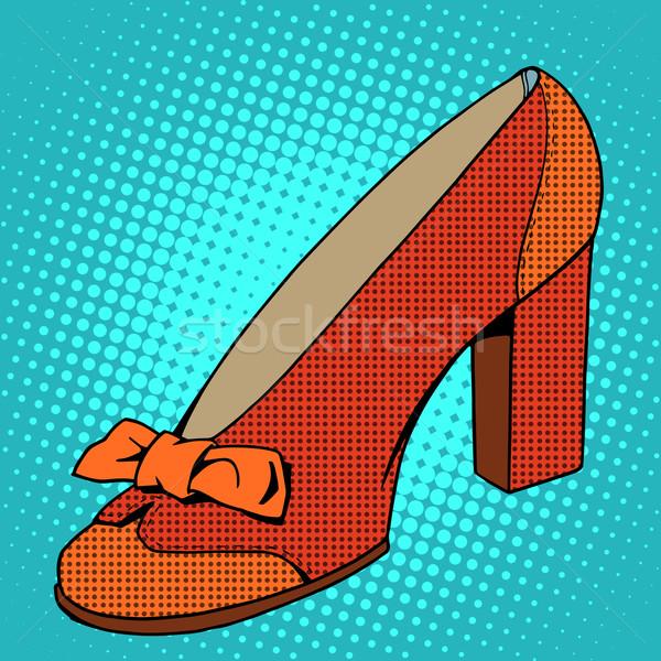 Retro shoes womens Stock photo © studiostoks