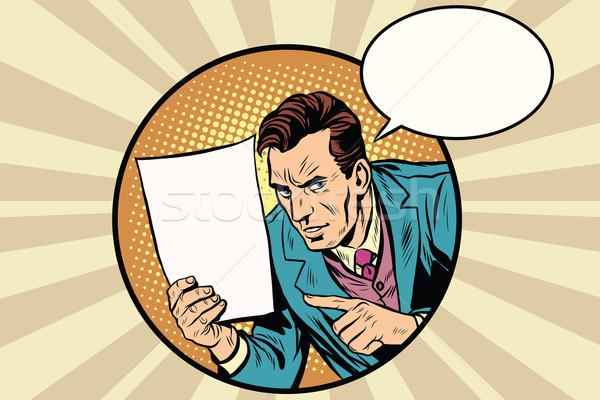 男性 リマインダー 白 シート 紙 ポップアート ストックフォト © studiostoks