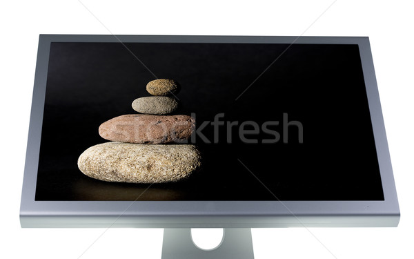 lcd monitor flat screen Stock photo © Studiotrebuchet