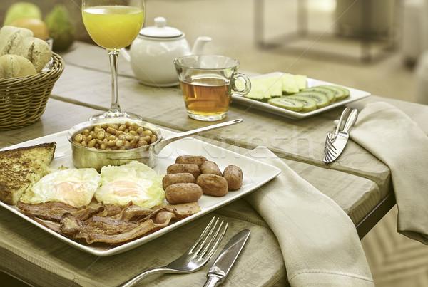 フル 英語 朝食 ホテル 日 高い ストックフォト © Studiotrebuchet