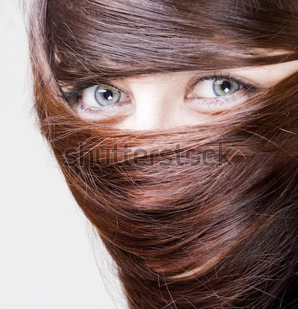 real beautiful young girl Stock photo © Studiotrebuchet