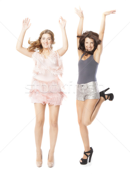 glamour women friends Stock photo © Studiotrebuchet
