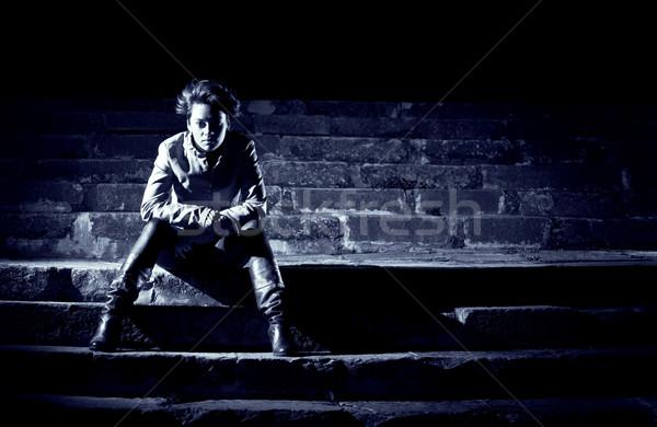 girl at night Stock photo © Studiotrebuchet