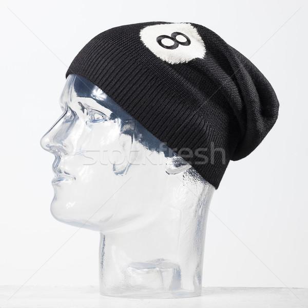 black woolen handmade cap basketball ball alike Stock photo © Studiotrebuchet