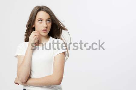 expression of a real young girl Stock photo © Studiotrebuchet