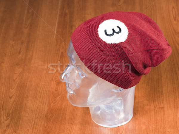 red woolen handmade cap basketball ball alike Stock photo © Studiotrebuchet