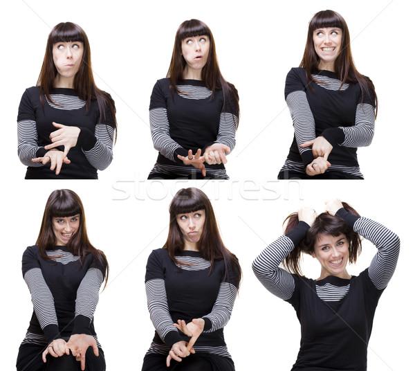different facial expressions Stock photo © Studiotrebuchet