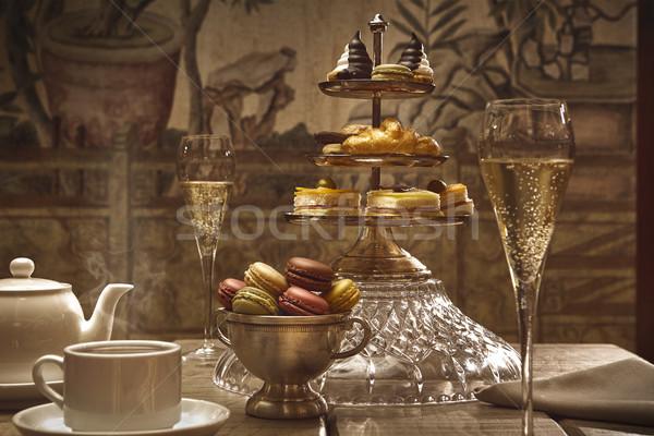 Chá da tarde hotel entrada luxo imagem Foto stock © Studiotrebuchet
