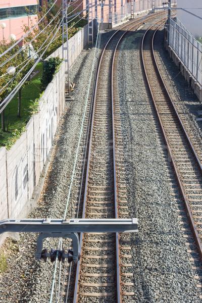 Yeraltı görmek metro şehir taşıma modern Stok fotoğraf © Studiotrebuchet