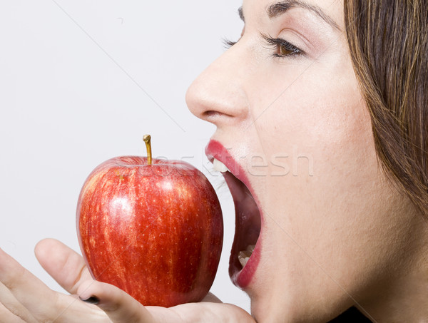 pretty girl witth healthy apple Stock photo © Studiotrebuchet