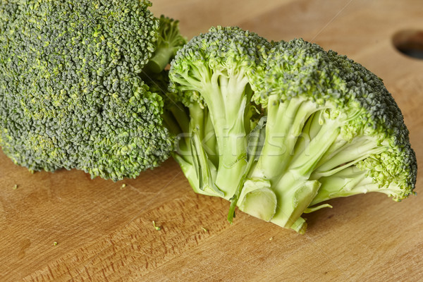 natural pieces of green healthy broccoli just steamed Stock photo © Studiotrebuchet
