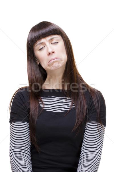 Vrouw uitdrukkingen mooie jonge vrouw Stockfoto © Studiotrebuchet